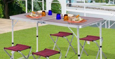 precios de mesas desmontables en exterior