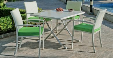 mesa desmontable aluminio