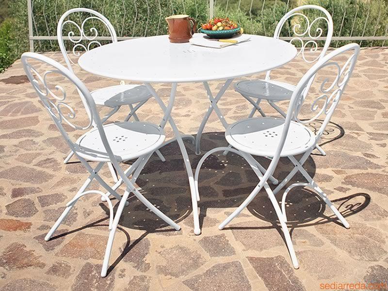 mesas para jardin plegables redondas