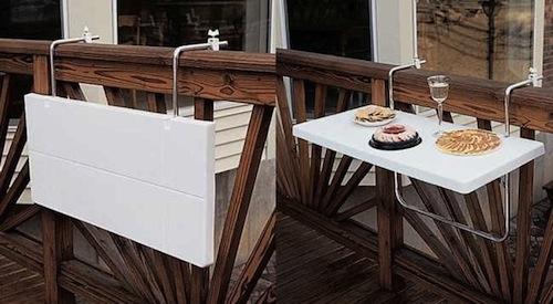 tipos de mesas para terraza plegables